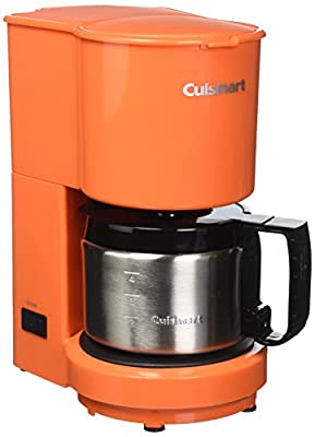 Cuisinart DCC-450ORFR 4-Cup Coffeemaker with Stainless-Steel Carafe, Orange (Certified Refurbished)