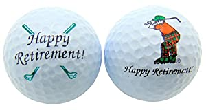 Happy Retirement Set of 2 Golf Ball Golfer Gift Pack