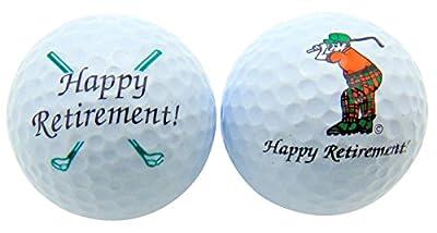 Happy Retirement Set of 2 Golf Ball Golfer Gift Pack
