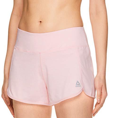 (Reebok Women's Athletic Workout Shorts - Gym Training & Running Short - 3 Inch Inseam - Mara Rose Shadow Heather, X-Large)
