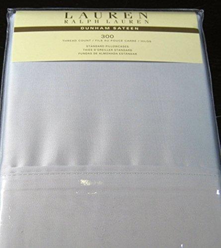 Set of 2 Ralph Lauren Dunham Sateen Standard Pillowcases -Silver-300 Thread Count 100% Cotton- (Ralph Lauren Cases Pillow)
