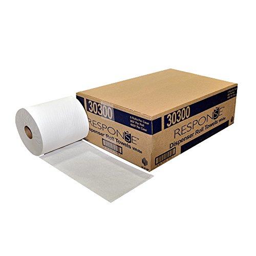 Response 30300 22# Dispenser Hardwound Roll Towel, 800′ Length x 8″ Width, White (Pack of 6)