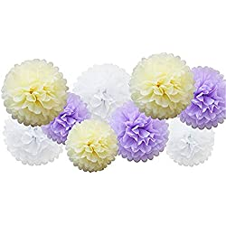 Clearance Sale!UMFun 9pcs Tissue Paper Pompoms Flower Balls Fluffy Christmas Wedding Party Decoration (B)