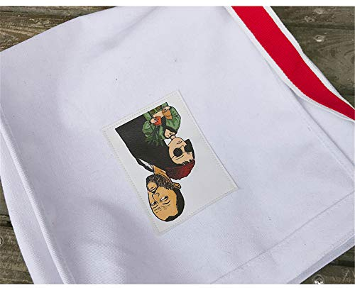 sencilla Harajuku lona de grande salvaje de coreanos Corea femenina bolsa Blanco LANDONA bolsa de bolsa del estudiantes mensajero xazX4wq