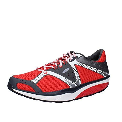 MBT Sneakers Hombre 42 EU Rojo Gris Textil