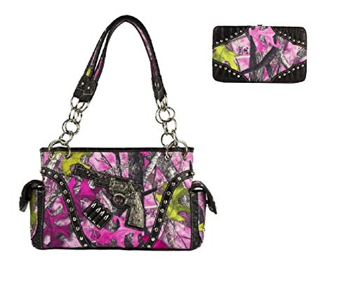 Sassy B Camo Concealed Carry Gun Purse Wallet Set Pink JP