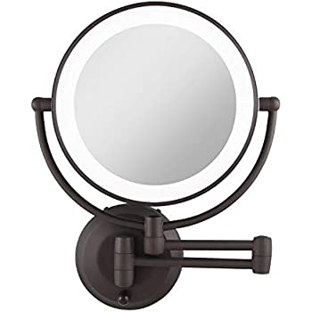 Amazon Com Gurun Led Lighted Wall Mount Makeup Mirror