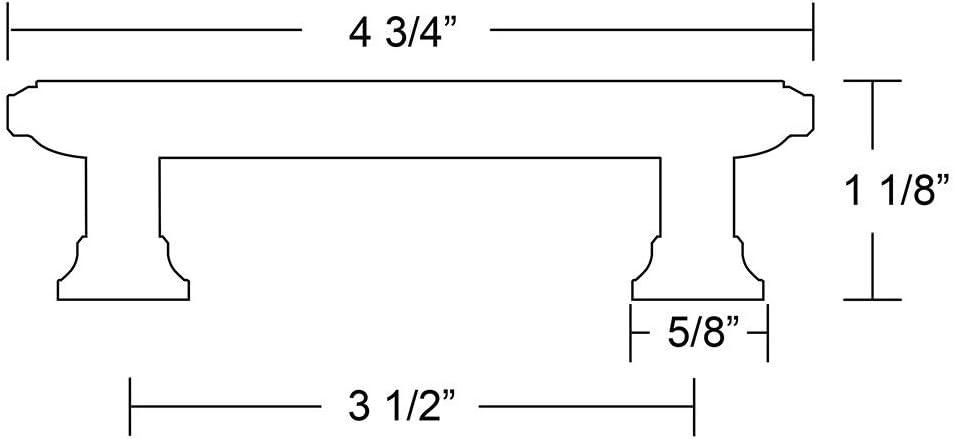 Emtek 86303US15 EMT Geometric Pull