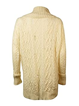 Free People Womens Distressed Cowl Neck Pullover Sweater Ivory M 1