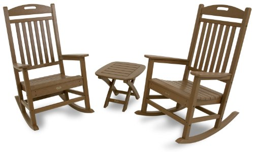 (Trex Outdoor Furniture TXS121-1-TH Yacht Club 3-Piece Rocker Chair Set, Tree House)