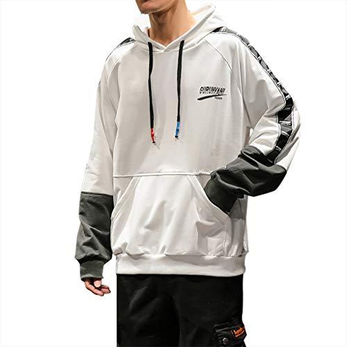 BXzhiri Men's New Sweatshirt Casual Fashion Patchwork Hoodie Long Sleeves Sweatershirt Tops Mens Hooded Sweatshirts