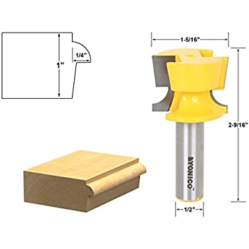 Yonico 13128 Door Lip and Finger Grip Router Bit with 1/2-Inch ...
