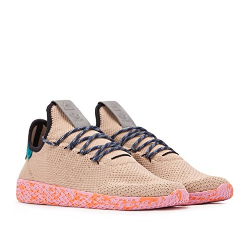 Adidas x Pharrell Williams Men Tennis HU tan teal pink marble Size 9.0 US