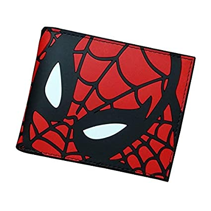 Amazon.com: 2018 Designer Wallet Spiderman PU Leather Card ...