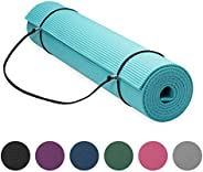 "Gaiam Essentials Premium Yoga Mat with Yoga Mat Carrier Sling (72""L x 24""W x 1/4 I"