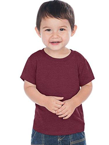 Kavio! Unisex Infants Crew Neck Short Sleeve Tee (Same IJC0432) Ht. Wine 6M (T-shirts Toddler Hip)