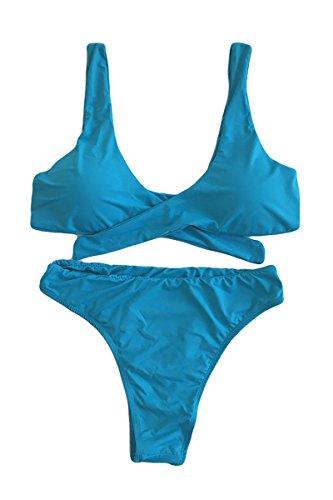 ESONLAR-Womens-Tie-Knot-Front-High-Waist-Thong-Bandage-2PCS-Bikini-Sets-Beachwear