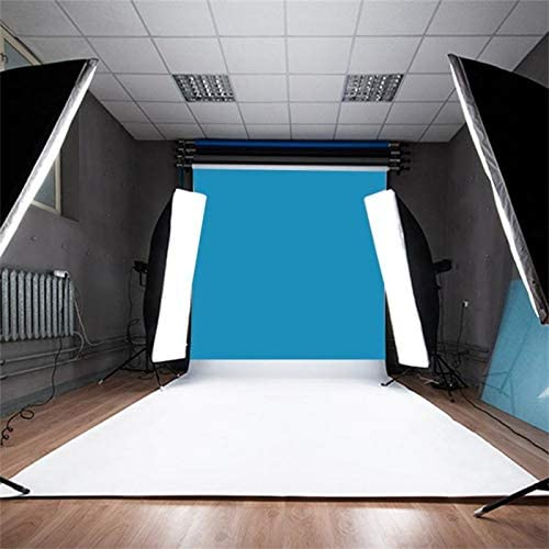 Langoo Pure Solid Colour Photography Background Cloth Studio Photo Backdrops 3x3ft Vinyl Collapsible Blue