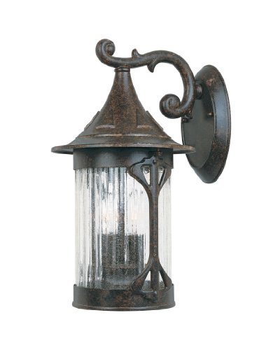 3 Light 9 Cast Aluminum Wall Lantern by Designers Fountain