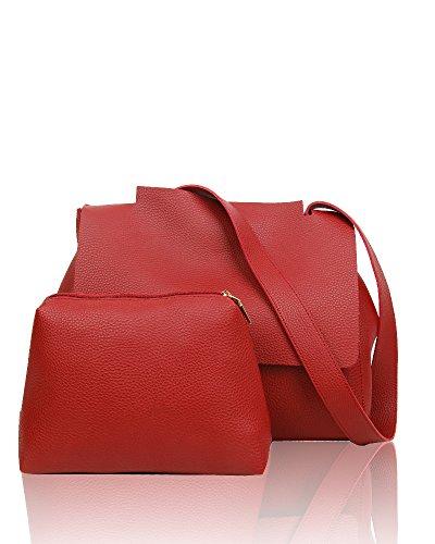 Swankyswans Kelly 2 In 1 Shoulder Handbag - Borse Tote Donna, Rosso (Burgundy), 12x24x30 cm (W x H x L)