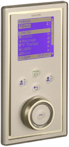 Kohler K-695-1AF DTV II Portrait Digital Interface, Satin Bronze with French Gold