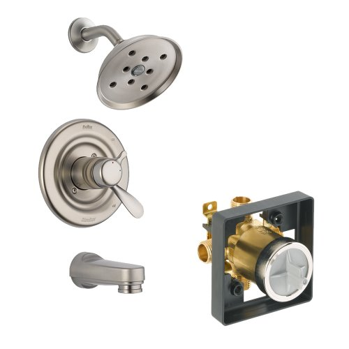 Balance Pressure Shower Classic (Delta Delta KTSDCL-T17430H2O-SS Classic Tub/Shower Kit Pressure-Balance Dual-Function Cartridge, Brilliance Stainless Brilliance Stainless)