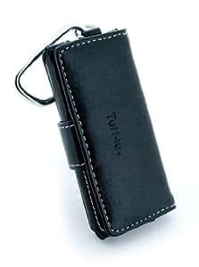 Tuff-Luv funda de piel con tapa y función de-M tecnología para iPod Nano 5 G - negro