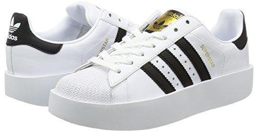 Adidas Zapatillas W White Core Metallic Superstar Gold para Footwear Blanco Mujer Bold 0 Black rqErxfcBt