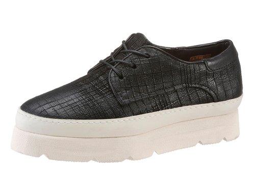 A.S.98 , Chaussures de ville à lacets pour femme noir Schwarz 41