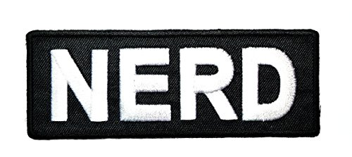 NERD Patch Funny words Sew Iron on Embroidered Patch jacket vest cap sew iron on patch badge Patch Symbol Badge Cloth Sign Costume