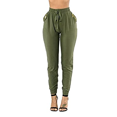 Flexible Harem Pants,Hemlock Women Pocket Zipper Pants Loose Trousers