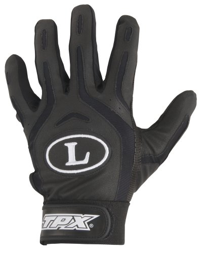 Louisville Slugger TPX Youth Pro Design Batting Glove, Black/Black, - Tpx Series Pro Glove