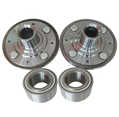 M-online Front Wheel Hubs & Wheel Bearings, LH+RH Pair for 1992-2000 Honda Civic, 1996-2000 Acura Integra