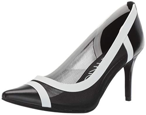 - Calvin Klein Women's Gonzalez Pump, Black/White, 6.5 M US