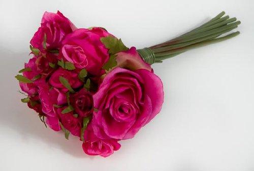 Factory Direct Craft Artificial Silk Beauty Rose Nosegay Bouquet