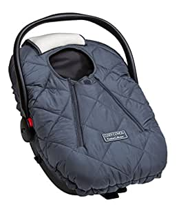 Cozy Cover Premium Collection - Infant Car Seat Cover with Polar Fleece Outer Shell for Added Warmth in Winter (Charcoal)