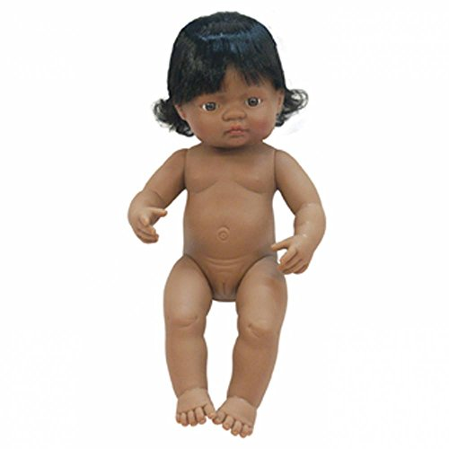 Hispanic Girl (Miniland 15'' Anatomically Correct Baby Doll, Hispanic Girl)