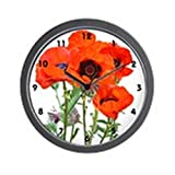 Cheap CafePress – Red Poppies – Unique Decorative 10″ Wall Clock