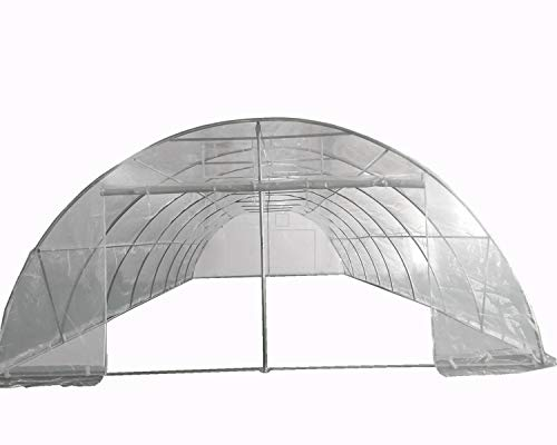 Delta Large Walk-in Nursery Hot House Commercial Grade – Greenhouse 40'x20′ Clear with Round Arch
