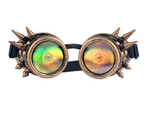Welding Punk Glasses Cosplay (Bronze) - 5