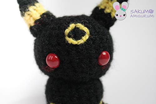 umbreon amigurumi - crochet plush pokemon eeveelution plushie ... | 333x500