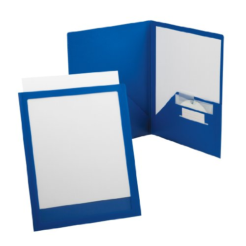 Oxford ViewFolio Plus Twin Pocket Folder, Letter, Blue  57470