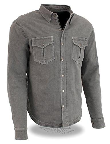 Milwaukee Performance Men's Denim Biker Shirt with Aramid (Grey, XX-Large), 0 Pack by Milwaukee Performance (Image #3)
