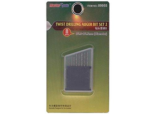 Twist Drilling Auger Bit Set #2 (8pcs): 1.0mm-1.7mm