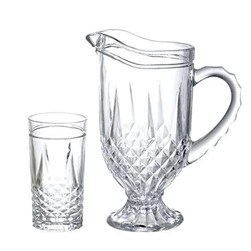 Jogo para refresco Starling 7 pecas em cristal ecologico (1L+6x330ml) transparente
