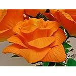 Phoenix-Silk-2-Bushes-Open-Rose-7-Artificial-Silk-Flowers-15-Bouquet-SN039