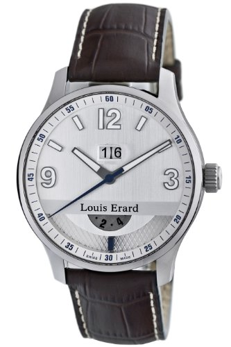 Louis Erard Men's '1931' Automatic Stainless Steel and Leather Dress Watch, Color:Brown (Model: 82224AA01.BDC52