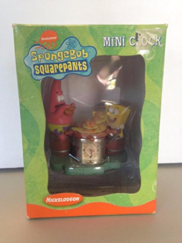 SpongeBob SquarePants Mini Clock Original Box 2002 SpongeBob and Patrick