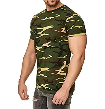 Happy Clothing Camiseta de Camuflaje para Hombre, Camiseta Militar, Größe Textil:XS, Farbe:Camouflage