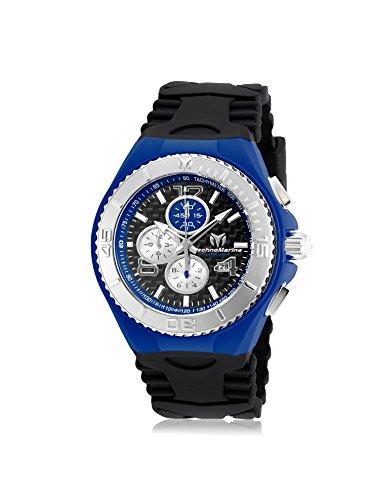 TechnoMarine Men's TechnoMarine Black Silicone Band Steel Case Quartz Analog Watch 115297